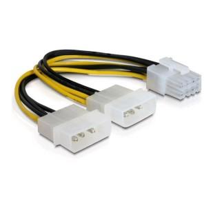 Cablu PC ; 2X MOLEX  IDE la PCI-E 8 PIN  ; 0.2m. 83410