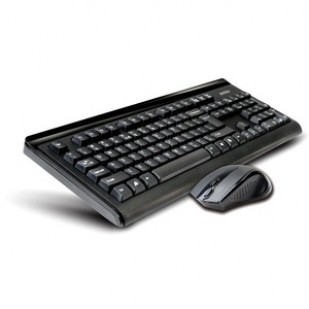 Tastatura + Mouse A4TECH 6100F; NEGRU; Layout: US; Conectare: WIRELESS;