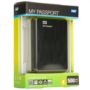 "HDD EXTERN WESTERN DIGITAL; model: MY PASSPORT; 500GB; 2.5""; USB 3.0"