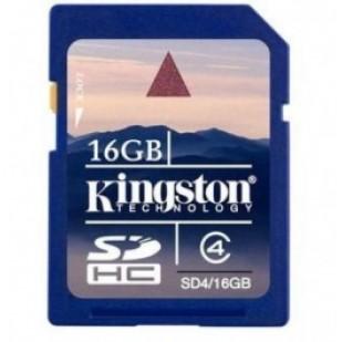 SD CARD KINGSTON; model: SD4/16GB; capacitate: 16 GB; clasa: 4; culoare: NEGRU