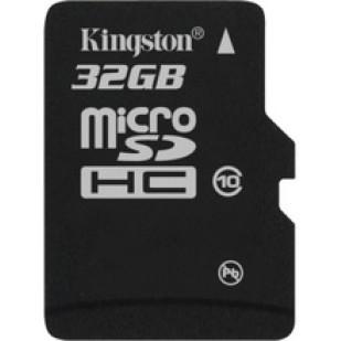 MICRO SD CARD KINGSTON; model: SDC10/32GBSP; capacitate: 32 GB; clasa: 10; culoare: NEGRU