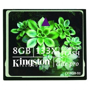 CF CARD KINGSTON; model: ELITE PRO 133X 8 GB