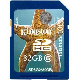 SD-HC CARD KINGSTONE; model: SD6G2/32GB; capacitate: 32 GB