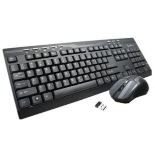 Kit Tastatura + Mouse GEMBIRD; model: KBS-DB1; layout: US; NEGRU; USB; WIRELESS; MULTIMEDIA