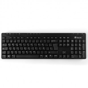 Kit tastatura, mouse wireless + OTG 2.4GHz USB nano negru, NGS