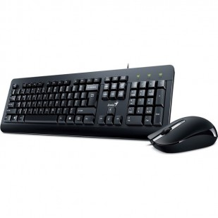 Kit Tastatura + Mouse GENIUS; model: KM-160; layout: US; BLACK; USB