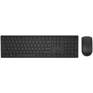 Kit Tastatura + Mouse Dell Wireless, model: KM636, layout: US, negru USB, MULTIMEDIA