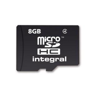 MICRO SD CARD INTEGRAL; capacitate: 8 GB; clasa: 4; culoare: NEGRU
