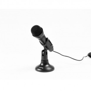 MICROFON LOGISTEP desktop stand, jack 3.5mm, home studio, black (LS-MIC800)