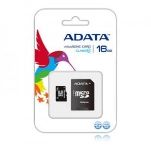MICRO SD CARD ADATA; capacitate: 16 GB; clasa: 10; culoare: NEGRU