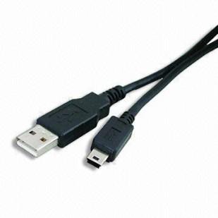 Cablu PC; USB 2.0 A M la mini-USB M; 0.5m