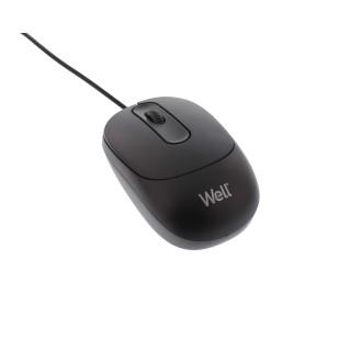 Mouse optic Well MU001 USB, Negru