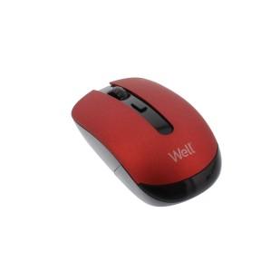 Mouse wireless Well MW101, Rosu/Negru
