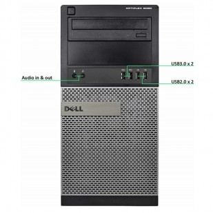Dell, OPTIPLEX 9020,  Intel Pentium G3240, 3.10 GHz, RAM: 4 GB, HDD: 500 GB, video: Intel HD Graphics 4600,TOWER