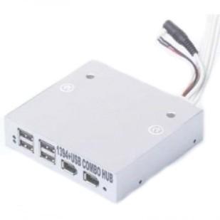 GEMBIRD HUB, USB 2.0 M la 2xFIREWIRE-6p M, 2xFIREWIRE-6P F, 4xUSB 2.0 F, UHB-166-S
