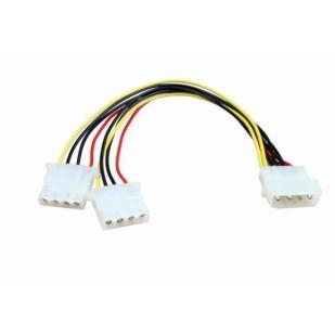 """Cablu PC; mufa 5.25"""" F la 3xmufa 5.25"""" F; 0.1m"""