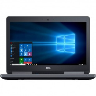 Laptop DELL, PRECISION 7510, Intel Core i7-6820HQ, 2.70 GHz, HDD: 128 GB, 500 GB, RAM: 32 GB, video: Intel HD Graphics 530, nVIDIA Quadro M2000M, webcam