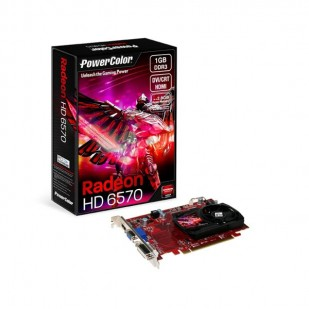 Placa video POWERCOLOR 1024 MB; GDDR3; 128 bit; PCI-E 16x; AMD Radeon HD 6570; VGA; DVI; HDMI