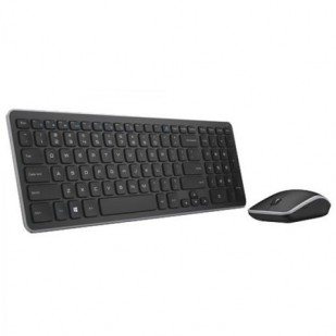 "Kit Tastatura + Mouse DELL; model: KM 714; layout: US; NEGRU; USB; WIRELESS; MULTIMEDIA; ""385Y9"""