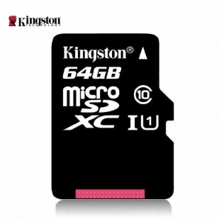 MICRO SD CARD KINGSTON; model: SDC10G2/64GB; capacitate: 64 GB; clasa: 10; culoare: NEGRU