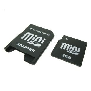 MINI SD CARD SILICON POWER,  2 GB