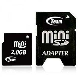 MINI SD CARD TEAM; model: T-MINI SD, 2 GB;