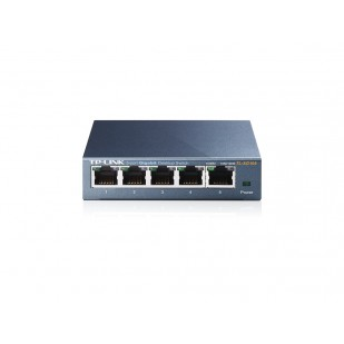 SWITCH TP-LINK; model: TL-SG105; PORTURI: 5 x RJ-45 10/100/1000 METAL CASE