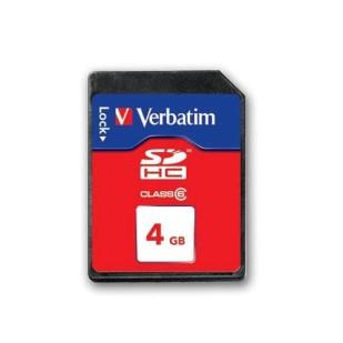 SD-HC CARD VERBATIM; model: 44017; capacitate: 4 GB; clasa: 6; culoare: ALBASTRU