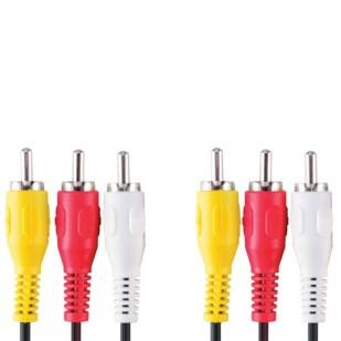 Cablu audio; 3xRCA M la 3xRCA M; 1.8m