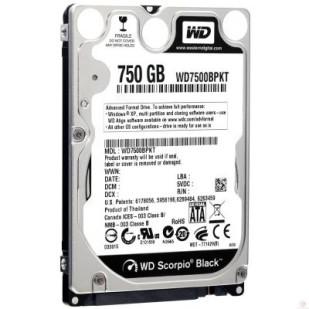 HDD 750 GB; S-ATA III; 7200 RPM; 16 MB BUFFER; WD; WD7500BPKX; NOU