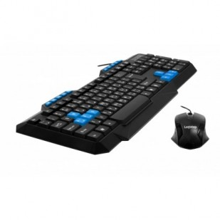 "WIRED KIT LogiStep USB QWERTY multimedia keyboard + optical mouse combo ""LSDK-5181"""