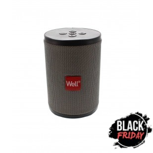 Boxa portabila Well Peal, Bluetooth, 5W, gri