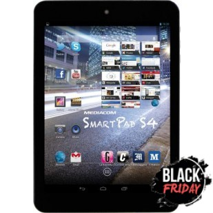 """Tableta Mediacom SmartPad 8.0 S4 M-MP82S4, Procesor Cortex A9 Quad Core 1.6 GHz, LCD IPS capacitive touchscreen Multitouch 7.85"""", 1GB DDR 3, 8GB Flash, WI-FI, Android 4.2"""