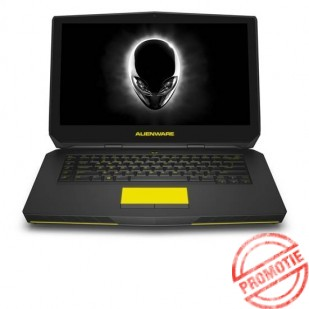 Laptop ALIENWARE, 15R2, Intel Core i5-6300HQ, 2.30 GHz, HDD: 750 GB, RAM: 8 GB, video: Intel HD Graphics 530, nVIDIA GeForce GTX 965M, webcam, BT, 15.6 LCD