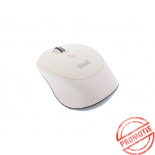 Mouse wireless Well model MWP201, Alb