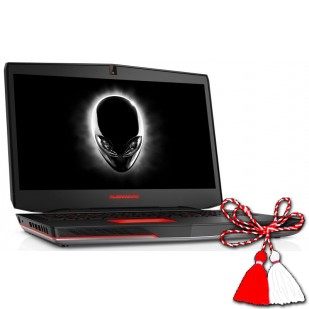 Laptop ALIENWARE, 17, Intel Core i7-4910MQ, 2.90 GHz, HDD: 1000 GB, RAM: 16 GB, unitate optica: DVD RW , video: nVIDIA GeForce GTX 880M, webcam, BT, 17.3 LCD (FHD), 1920 x 1080""
