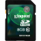 SD-HC CARD KINGSTON; model: SD10V/8GB; capacitate: 8 GB; clasa: 10; culoare: NEGRU