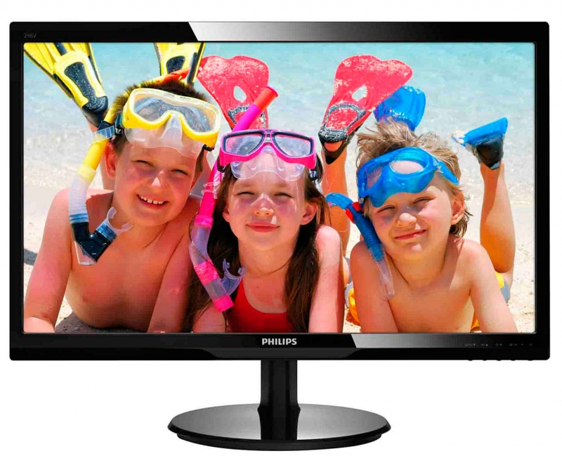 MONITOR PHILIPS 24' LED, 1920x1080, 5ms, 250cd/mp, vga+hdmi (246V5LHAB/00)