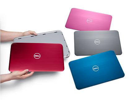 Capace laptop inspiron, diferite culori